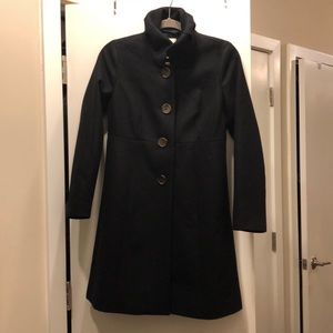 Jcrew Black fit and flare winter jacket